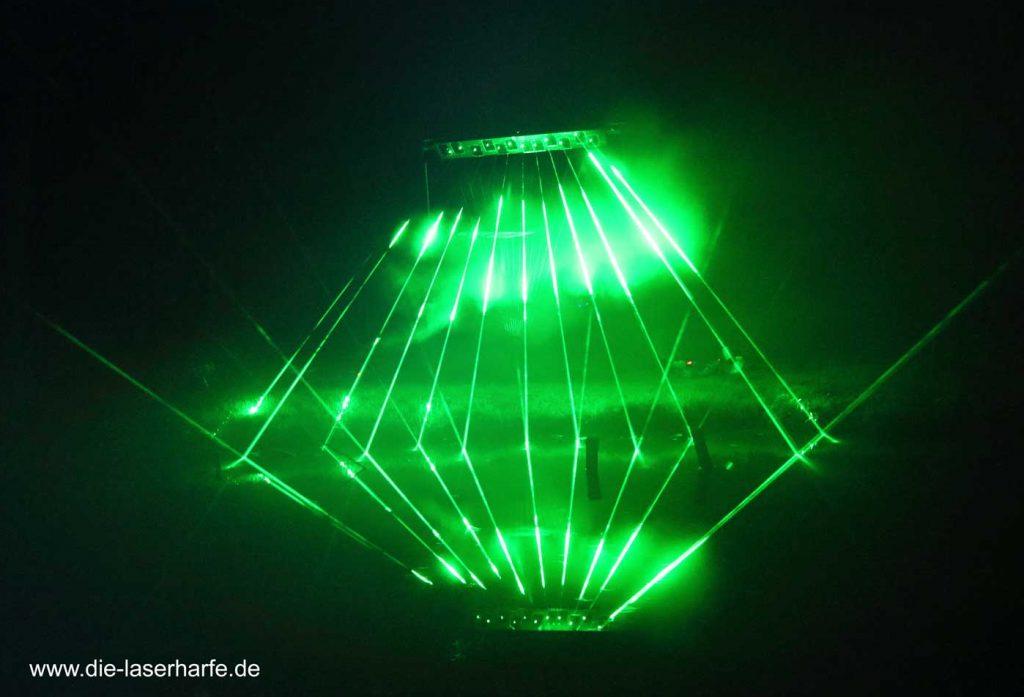 Die Laserharfe – 2018 bei zahlreichen Veranstaltungen