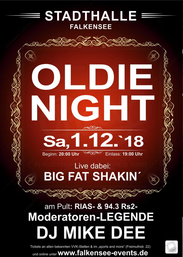Oldie-Night – Stadthalle Falkensee – 01.12.2018!